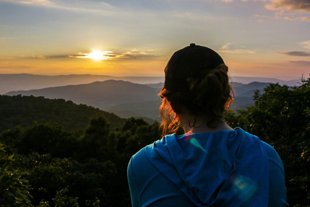 Sunset at Bearfence mountain