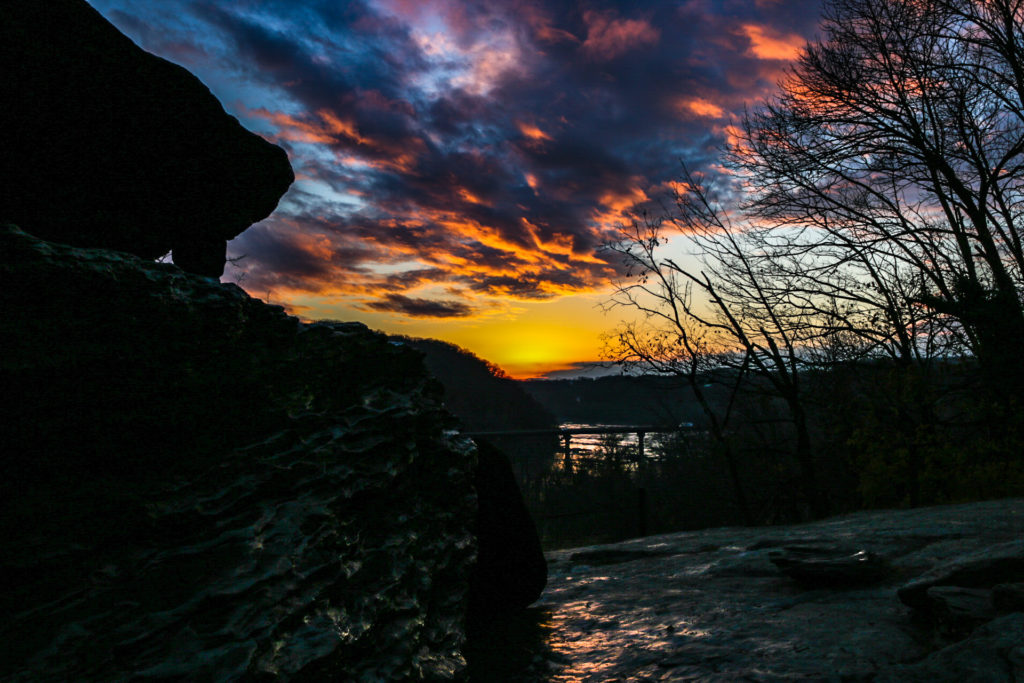 Last sunset on the trail, at Jefferson Rock in Harper's Ferry.